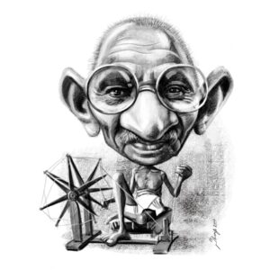 High quality black and white caricature